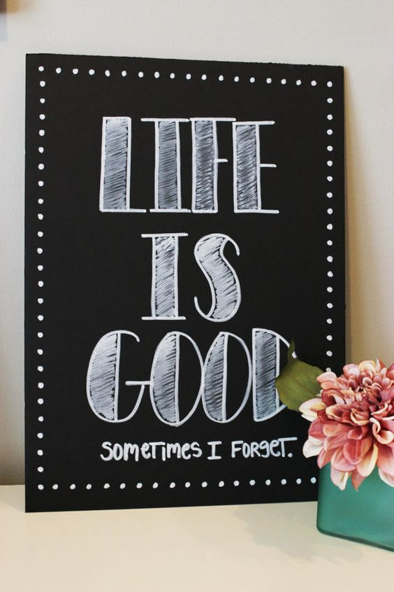 "Decorative chalkboard signs - *without* the ""sometimes i forget"":"