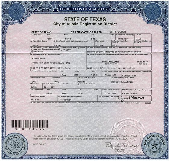 Sample birth certificate template best 25 certificate format example birth certificatejpg 700664 passports pinterest sample birth certificate yadclub Choice Image
