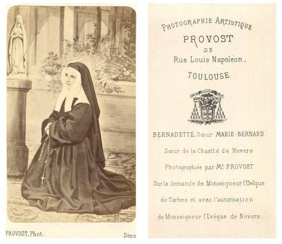 Provost Bernadette Soubirou    #CDV #portraits #Religieux_