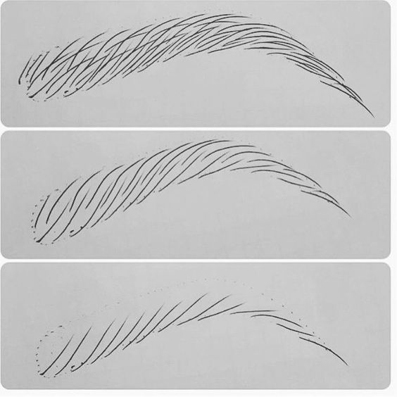 Eyebrow Hair Strokes With New Finish Ink Practice Makes