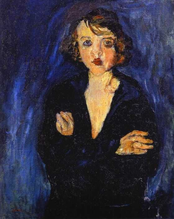 Woman with Arms Folded   Artist: Chaim Soutine  Completion Date: c.1929  Style: Expressionism  Genre: portrait  Technique: oil  Material: canvas  Gallery: Private Collection: