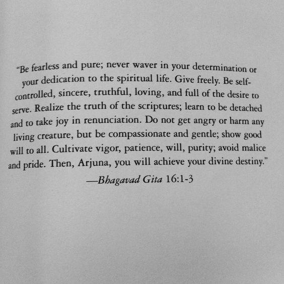 Bhagavad Gita 16:1-3