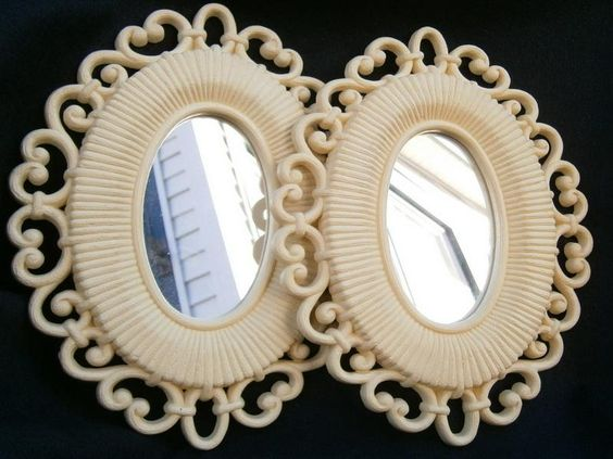 Double Oval Cool Wall Mirrors