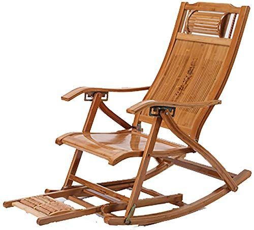 New Outdoor Folding Bamboo Chaise Lounge Portable Adjustable
