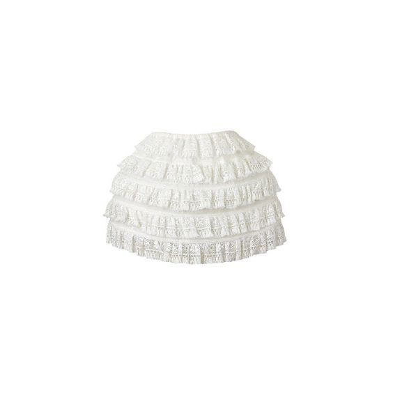 D&G (D&G) - スカート - 1147ファッションアイテムのカタログ検索 | VOGUE.COM ❤ liked on Polyvore featuring skirts, bottoms, dolce & gabbana, white knee length skirt, d&g, d&g skirt and white skirt