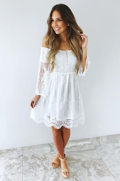 Bridal Shower Dress White Boho Bridal Shower Dress Wedding Shower Dress White Bridal Shower Dress