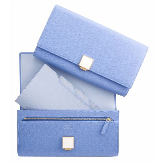 Travel Clutch, Nile Blue Collection - Smythson - Clutch Bags