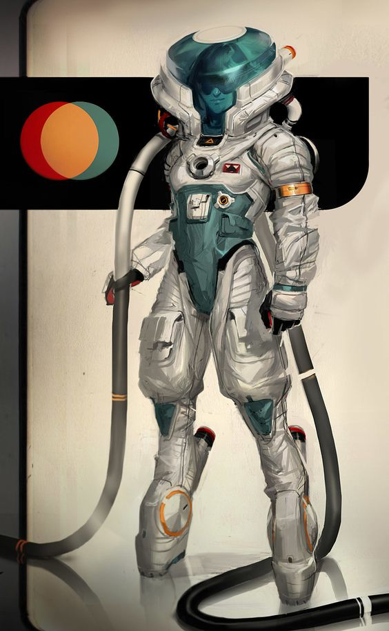 space suit labeled - photo #27