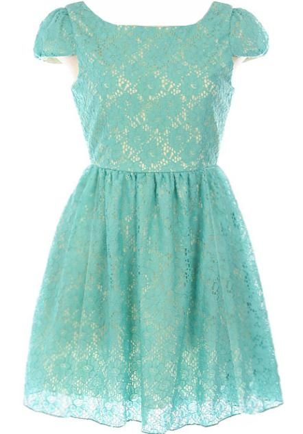 Tea Party Dress >> So very pretty! $ 80. Love the color and lace!