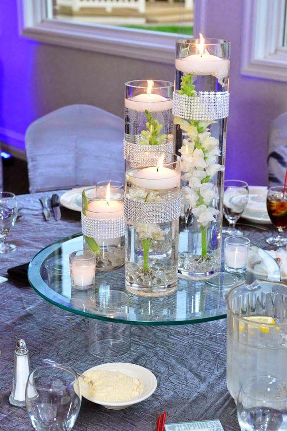 31 centros de mesa para boda con velas, ¡todo inspiración! Mesas e