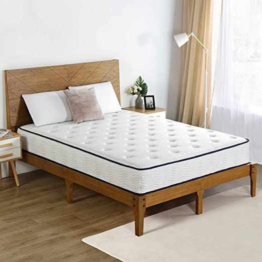 Olee Sleep 10 Inch Tight Top Spring Mattress Twin Blue Piping Vc10sm04t 1 In 2020 Mattress King Mattress Foam Mattress