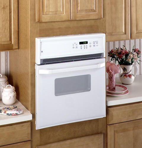 Ge 24 Electric Single Self Cleaning Wall Oven Jrp15wwww Cleaning Walls Self Cleaning Ovens Wall Oven