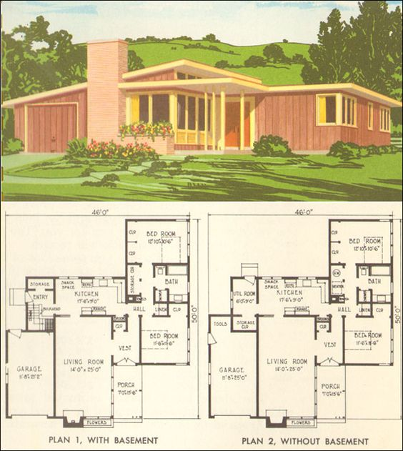 Modern House Plans Mid Century And Modern Houses On Pinterest