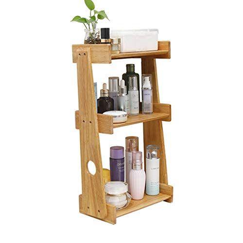 Liyansnh Cosmetic Shelf With Drawer Handmade Wood Makeup Organizer Non Slip Design Perfect Tabletop Storage Prod Wood Makeup Organizer Shelves Organize Drawers