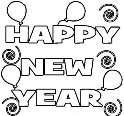 New Year Coloring Pages For Toddlers 2021 In 2020 New Year Coloring Pages Coloring Pages For Kids Coloring Pages Winter