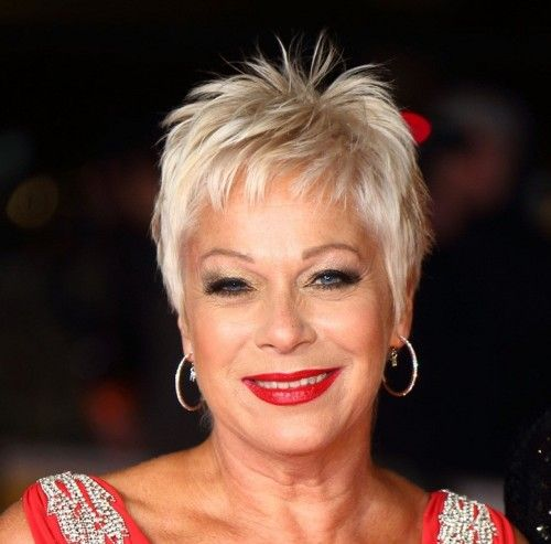 Fantastic Short Hairstyles Denise Welch And Platinum Pixie On Pinterest Hairstyles For Men Maxibearus