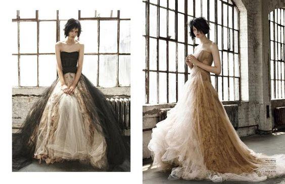 Noiva com Classe: Editorial Vogue: vestidos de noiva coloridos & multicoloridos