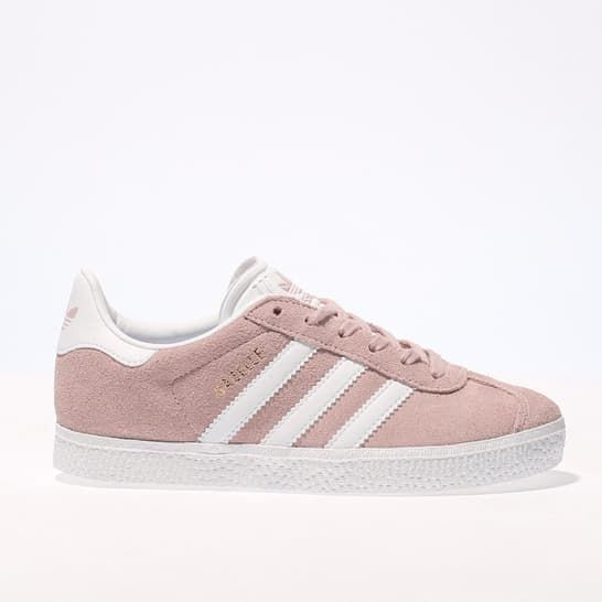Girls Pale Pink adidas Gazelle Trainers