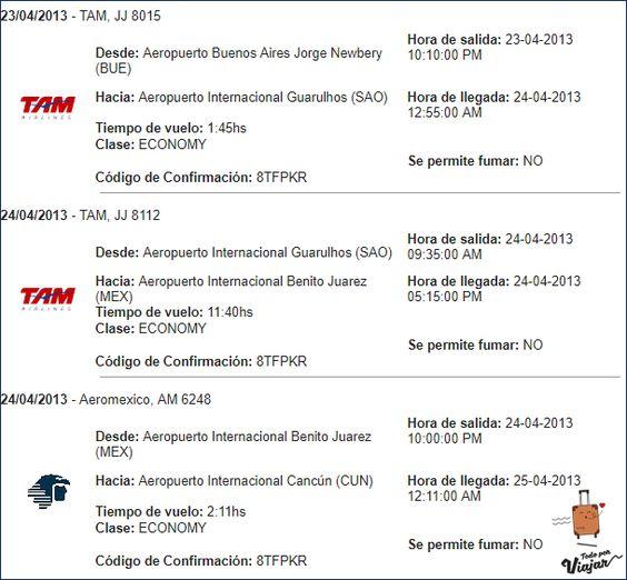 Ida desde Buenos Aires a Cancún con múltiples escalas