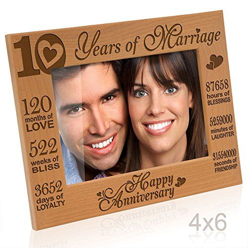 Kate Posh Our 10th Wedding Anniversary Picture Frame 10th Anniversary Gifts 10 Y Wedding Anniversary Pictures 10th Wedding Anniversary Anniversary Pictures