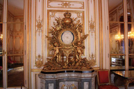 "Relos en los ""Petitts appartemets du roi"". Versalles"