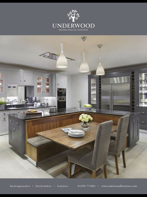 Pinterest the world s catalog of ideas for Built in kitchen booth