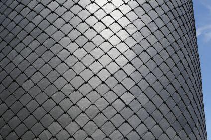 Zürichs Schornstein done in Natural Slates. By De Nis.