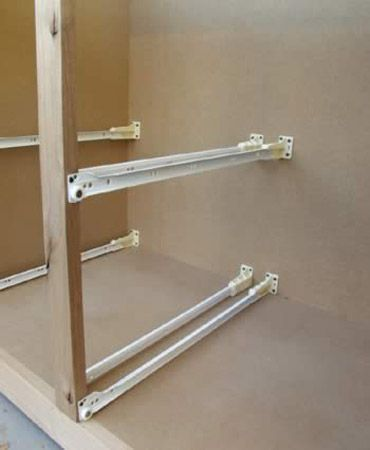 How to mount drawer in cabinet w o side kitchensource - Bathroom cabinet organizers pull out ...