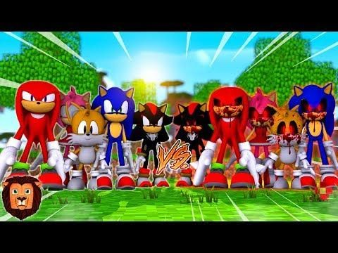 Team Sonic Vs Team Sonic Exe En Minecraft Sonic En Minecraft 58 Leon Picaron Minecraft Youtubers Minecraft Sonic Unleashed