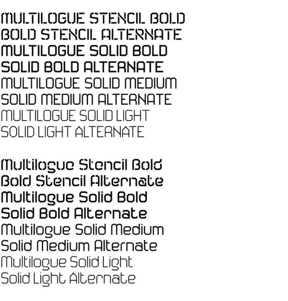 Multilogue typeface by Andreas Neophytou