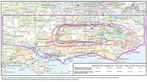 UK Fracking Map