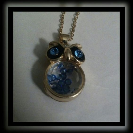 """Small Owl Austrian Crystal Necklace New Never used 18"""" chain size Gold plated chain Austrian Crystal Jewelry Necklaces"""