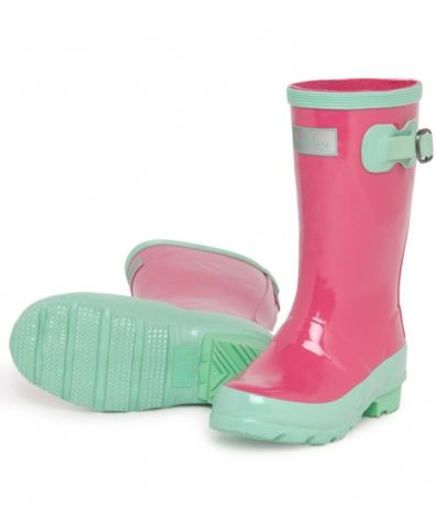 Hatley Store: Hatley Pink And Green Youth Girls&39 Rain Boots | For