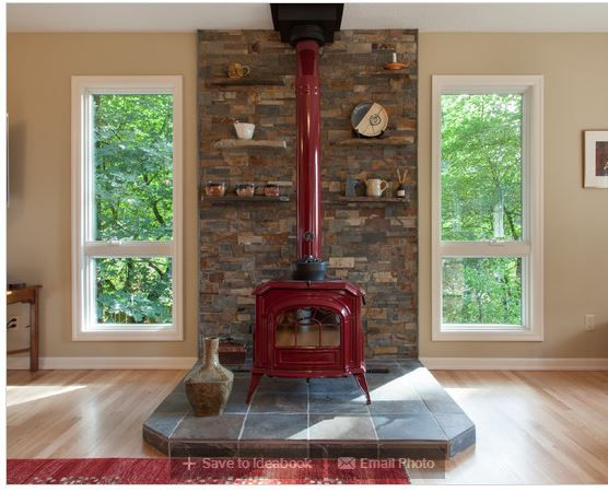 Stove Retro Style And Living Room Designs On Pinterest