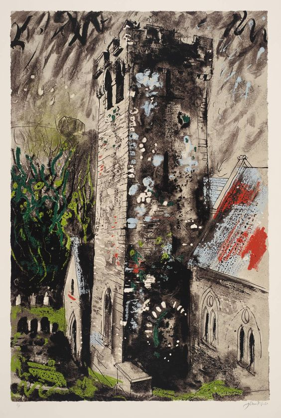 Artist John Piper (1903‑1992) Title Castlemartin Date 1976 MediumScreenprint on paper Dimensionsimage: 924 x 613 mm Collection Tate Acquisition Presented by Rose and Chris Prater 1976