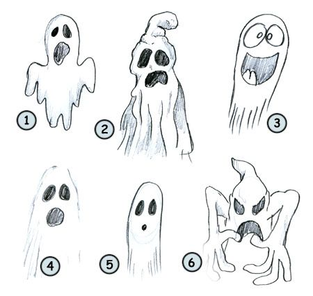 Go back from How to draw a cartoon ghost to home page | Face ...