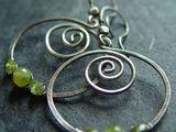 Sterling Silber Peridot Spiralen...