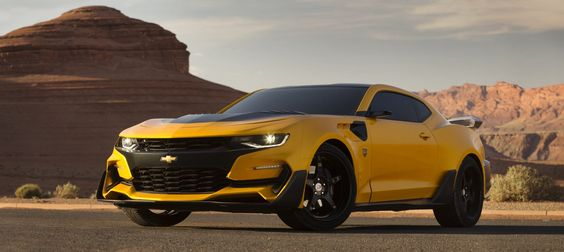 Bumblebee is back as a custom-built 2016 Camaro by GM for Transformers: The Last Knight
