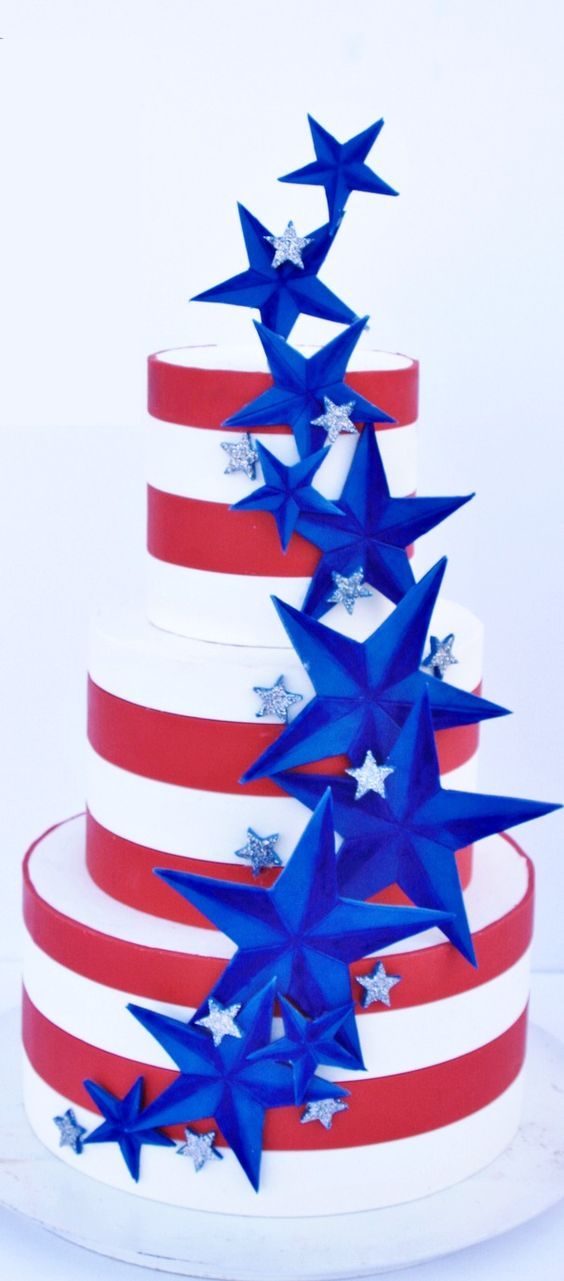 Stars And Stripes Cake: