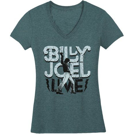 Billy Joel Glass Houses Girls Jr Large Indigo