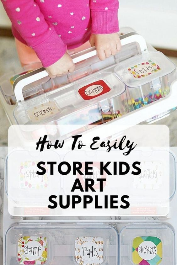 How To Easily Store Kids Art Supplies using Deflecto craft supplies and Xyron Creative Station! Kids art supplies organization | Storage solutions for kids | Craft supplies organization