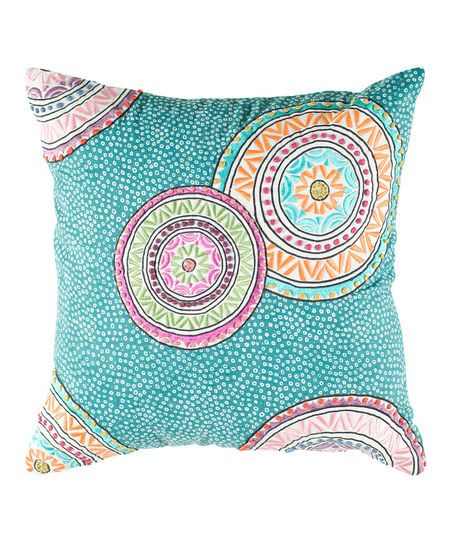 Throw Pillow Color Combinations : Teal Sun Circle Square Pillow Color Schemes Pinterest Teal, Circles and Throw Pillows