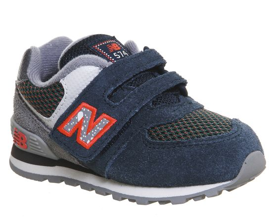new balance infant 574 velcro trainers black