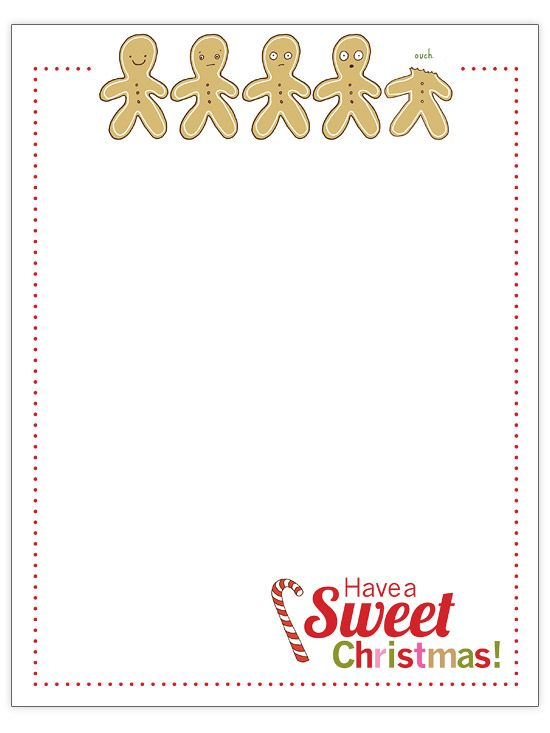 Free Christmas Letter Templates Hojas membretadas - christmas letter templates free