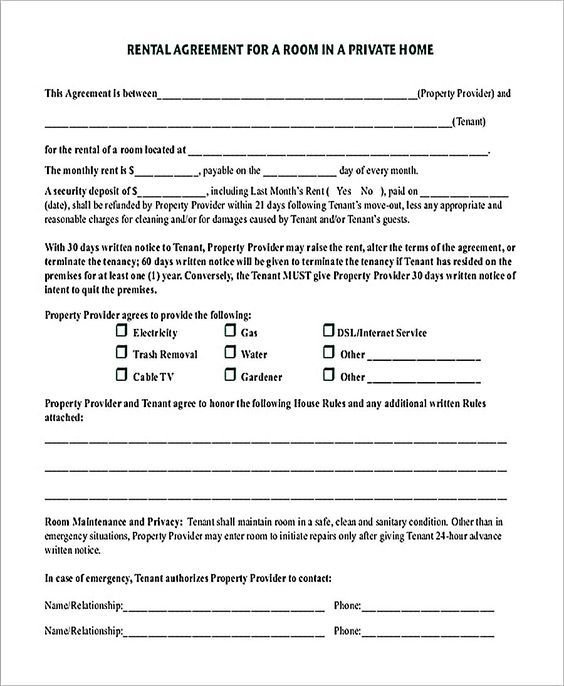Room Rental Agreement In Private Home Pdf Download 9 Room Rental Agreement Template Und Rental Agreement Templates Room Rental Agreement Rental Agreements
