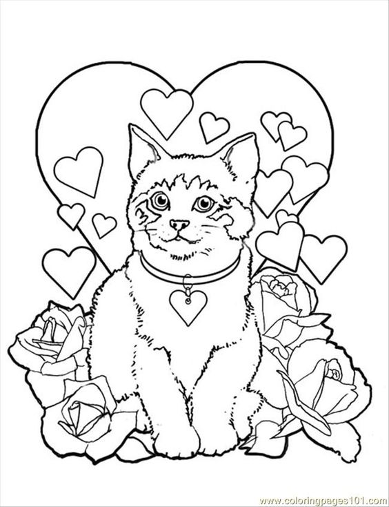 mammals coloring pages - free valentine coloring pictures to print off coloring
