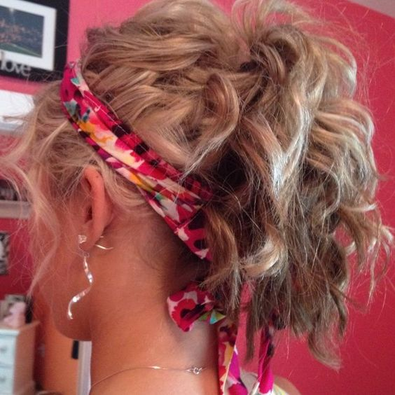 Messy Curly Hair Updo Ponytail. This is so cute! Kinda like Tiffanys hair in Silver Linings Playbook!!