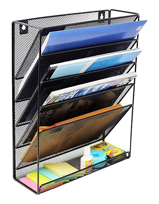 Quality File Organizer Metal Mesh Mount Hanging Wall File