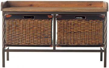 Noah Wooden Storage Bench - Entry Benches - Storage & Organization - Storage & Display | HomeDecorators.com