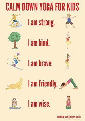 calm down yoga routine for kids printable  lesson plans